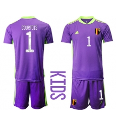 Kids Belgium Short Soccer Jerseys 026