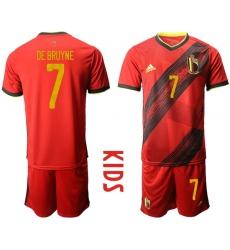Kids Belgium Short Soccer Jerseys 036