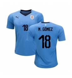 Uruguay #18 M.Gomez Home Soccer Country Jersey