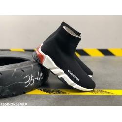 Balencia socks elastic woven surface Men Women Shoes Black White Red