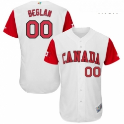 Mens Canada Baseball Majestic 00 Kellin Deglan White 2017 World Baseball Classic Authentic Team Jersey