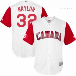 Mens Canada Baseball Majestic 32 Josh Naylor White 2017 World Baseball Classic Replica Team Jersey