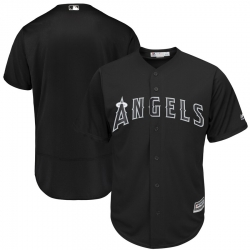 Angels Blank Black 2019 Players Weekend Authentic Player Jersey