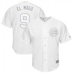 Cubs 9 Javier Baez El Mago White 2019 Players Weekend Player Jersey