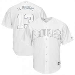 Padres 13 Manny Machado El Ministro White 2019 Players Weekend Player Jersey