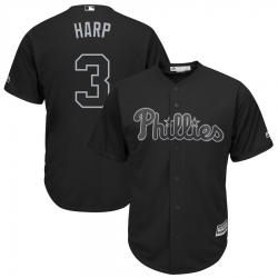 Phillies 3 Bryce Harper Harp Black 2019 Players Weekend Player Jersey