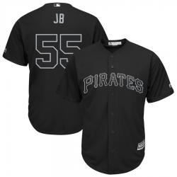 Pirates 55 Josh Bell JB Black 2019 Players Weekend Player Jersey