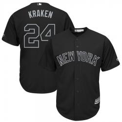 Yankees 24 Gary Sanchez Kraken Black 2019 Players Weekend Player Jersey