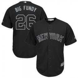 Yankees 26 DJ LeMahieu Big Fundy Black 2019 Players Weekend Player Jersey