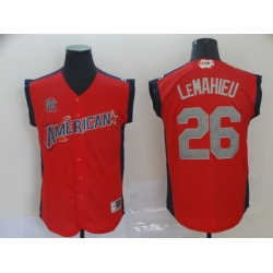 American League 26 DJ LeMahieu Red 2019 MLB all star Game Player Jersey