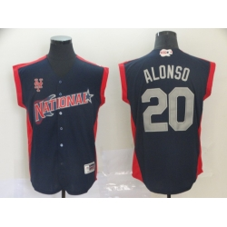 National League 20 Pete Alonso Navy 2019 MLB all star Game Player Jersey