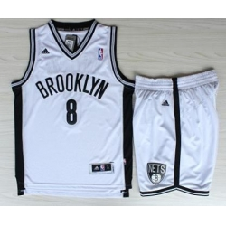 Brooklyn Nets 8 Deron Williams White Revolution 30 Swingman Jerseys Shorts NBA Suits