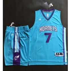Hornets #7 Jeremy Lin Teal A Set Stitched NBA Jersey