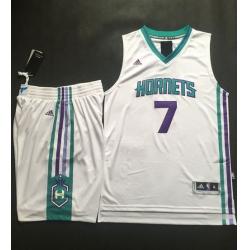 Hornets #7 Jeremy Lin White A Set Stitched NBA Jersey