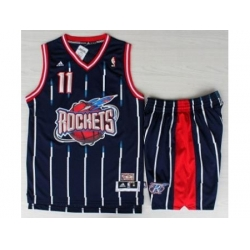 Houston Rockets 11 YAO Blue Hardwood Classics Revolution 30 NBA Jerseys Shorts Suits