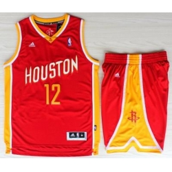 Houston Rockets 12 Dwight Howard Red Throwback Revolution 30 Swingman NBA Jerseys Shorts Suits