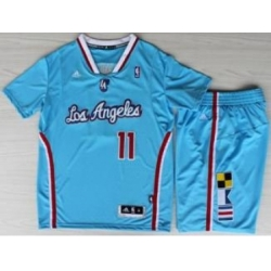 Los Angeles Clippers 11 Jamal Crawford Blue Revolution 30 Swingman NBA Jersey Short Suits New Style