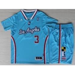 Los Angeles Clippers 3 Chris Paul Blue Revolution 30 Swingman NBA Jersey Short Suits New Style