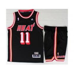 Miami Heat 1 Chris Bosh Black Hardwood Classics Revolution 30 NBA Jerseys Short Suit