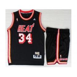 Miami Heat 34 Ray Allen Black Hardwood Classics Revolution 30 NBA Jerseys Short Suit