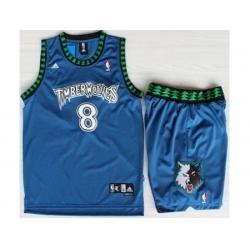 Minnesota Timberwolves 8 Latrell Sprewell Blue Swingman NBA Jerseys Short Suits