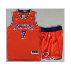 New York Knicks 7 Carmelo Anthony Orange Revolution 30 Swingman NBA Jerseys Shorts Suits