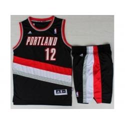 Portland Trail Blazers 12 LaMarcus Aldridge Black Revolution 30 Swingman NBA Jersey Short Suits
