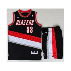 Portland Trail Blazers 33 Scottie Pippen Black Revolution 30 Swingman NBA Jersey Short Suits