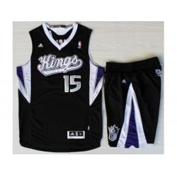 Sacramento Kings 15 DeMarcus Cousins Black Revolution 30 Swingman Suits