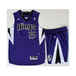 Sacramento Kings 15 DeMarcus Cousins Purple Revolution 30 Swingman Suits