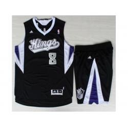 Sacramento Kings 8 Rudy Gay Black Revolution 30 Swingman Suits