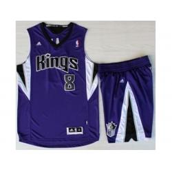Sacramento Kings 8 Rudy Gay Purple Revolution 30 Swingman Suits