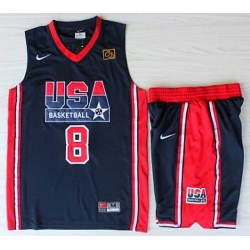 USA Basketball 1992 Olympic Dream Team Blue Jerseys & Shorts Suits 8# Scottie Pippen