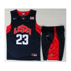 USA Basketball #23 Kyrie Irving Blue Jersey & Shorts Suit