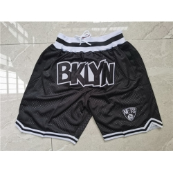 Brooklyn Nets Teams Black Just Don With Pocket Swingman Shorts