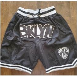Men Brooklyn Nets Black Basketball Shorts