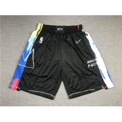 Men Brooklyn Nets Teams Black City Edition Swingman Shorts