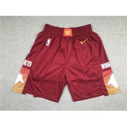 Men Denver Nuggets Teams Red Just Don City Edition Swingman Shorts