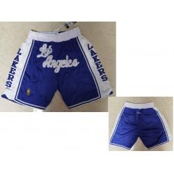 Men Los Angeles Lakers Blue Just Don Swingman Throwback Shorts