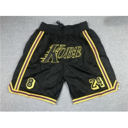 Men Los Angeles Lakers Teams Black 8  26 24 Kobe Just Don With Pocket Swingman Shorts