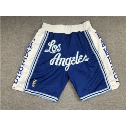 Men Los Angeles Lakers Teams Blue Just Don With Pocket Swingman Shorts