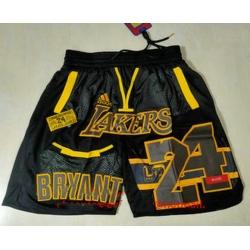 Men Men Los Angeles Lakers 24 Kobe Bryant Black Golden Retired