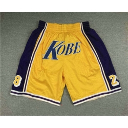 Men Men Los Angeles Lakers 8 24 Kobe Bryant Yellow Just Don