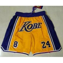 Men Men Los Angeles Lakers 8 24 Kobe Bryant Yellow With Purple
