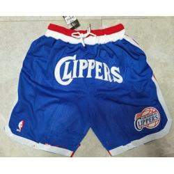 Men Men los angeles clippers blue 2020 nike swingman stitched nba shorts