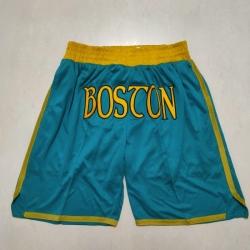 Men's Boston Celtics Green Pocket Shorts