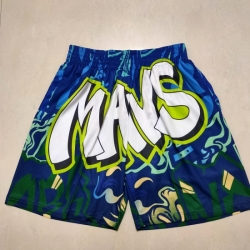 Men's Dallas Mavericks Green Mitchell&mness Shorts