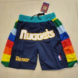 Men's Denver Nuggets Navy Shorts