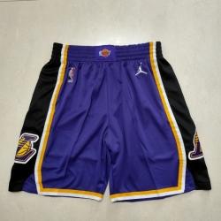 Men's Los Angeles Lakers Purple Throwback Shorts