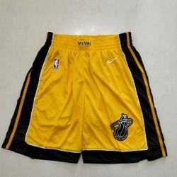 Men's Miami Heat Yellow Award Shorts